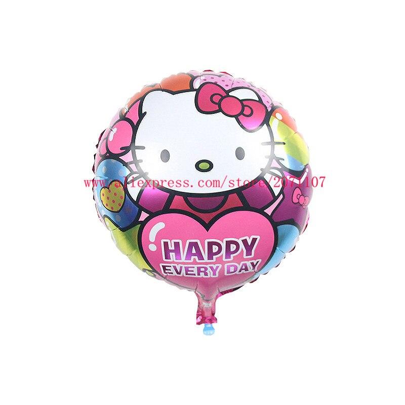 Lucky 50pcs Lot 45 45cm Kitty Balloon Foil Helium