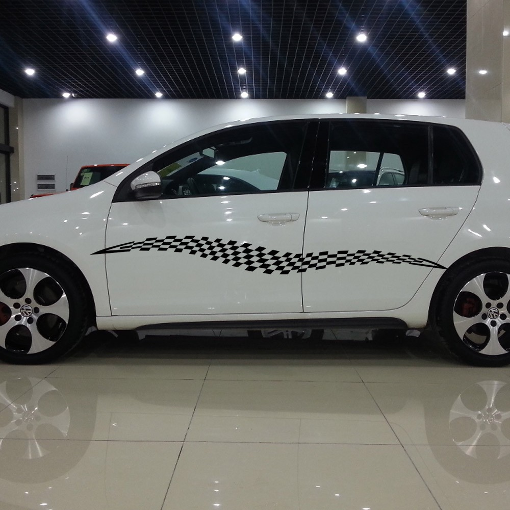 Car body sticker design singapore - Car Styling Car Decal Vinyl Graphics Side Long Totems Sticker Body Racing Stripe For Suv