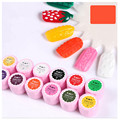 New 12 Color Nail Art UV Gel Bright Color Carving Paint Drawing Gel Sweater Candy Gel 4D Dimensional Carved Gemstone UV Gel