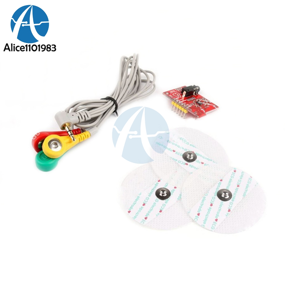 AD8232 <font><b>Ecg</b></font> Module Measurement Pulse Heart <font><b>Ecg</b></font> Monitoring Sensor Module Electronice Kit For <font><b>Arduino</b></font> AD8232 Monitor Diy Kit image