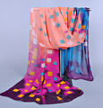 fashion pashmina flower print women scarf 2014 new design long shawl silk chiffon cape muffler hot sale Scarves