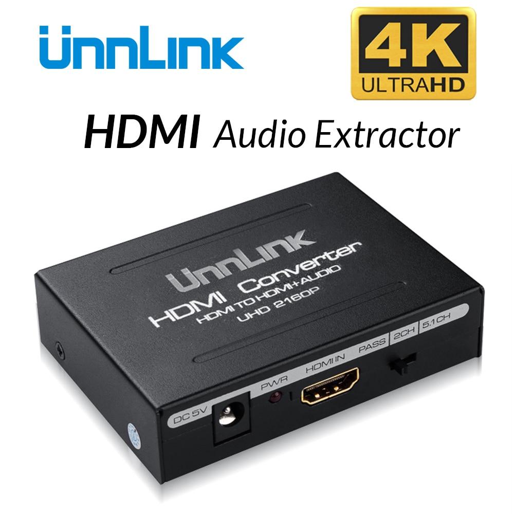 цены на Unnlink HDMI Audio Extractor Converter Splitter HIFI 5.1ch SPDIF Optical Toslink RCA UHD 4K for Chromecast Fire TV Stick Box в интернет-магазинах