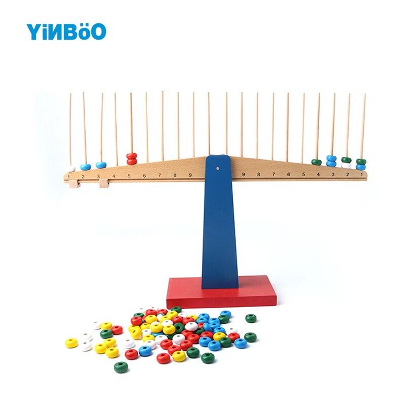 Montessori jouets éducatifs en bois pour enfants balances Balance faisceau éducation préscolaire enfants jouets Brinquedos Juguetes