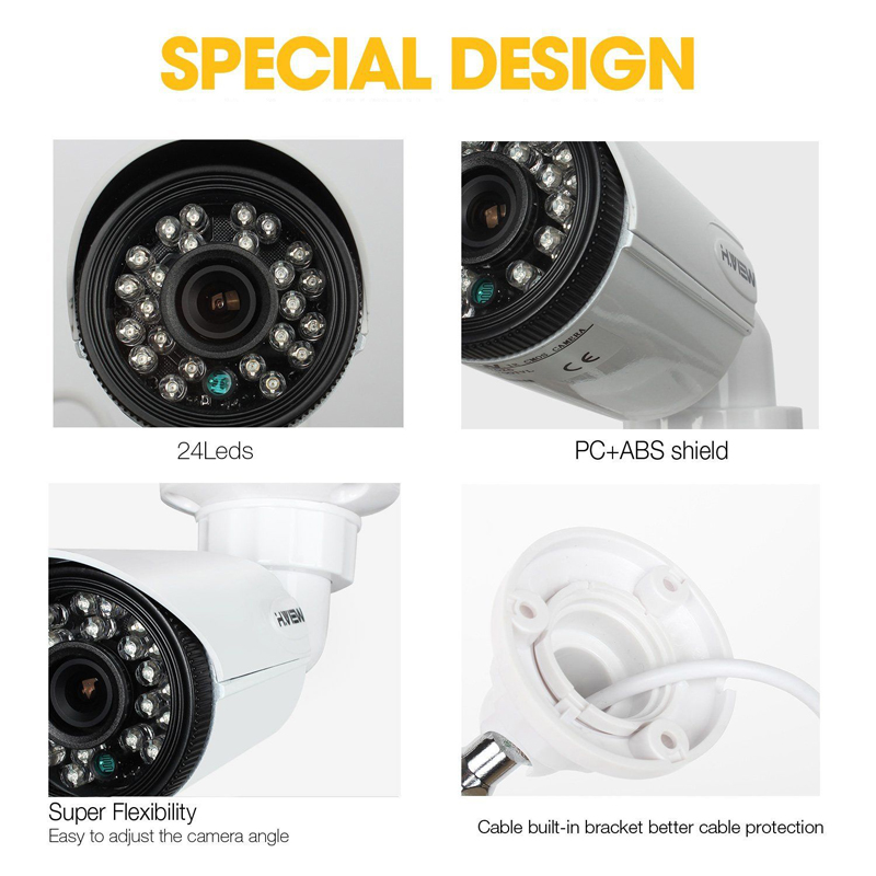 Image 2 - H.VIEW 720P Camera Surveillance AHD Surveillance CCTV Analog Camera High Resolution IR Cameras PAL NTSC Outdoor Video Cameras-in Surveillance Cameras from Security & Protection