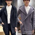 WQD642 men's fall 2016 new Korean fashion Hooded Sweater Cardigan Sweater long