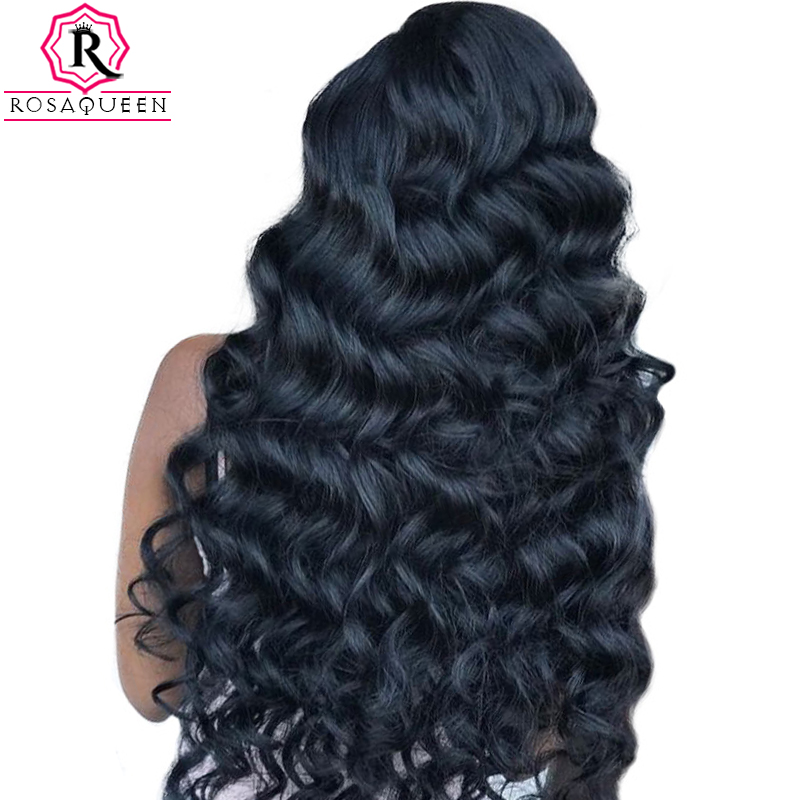 250% Density Loose Wave Lace Front Human Hair Wigs For Women Brazilian Virgin Wig Pre Plucked Frontal Lace Wig Black Dolago