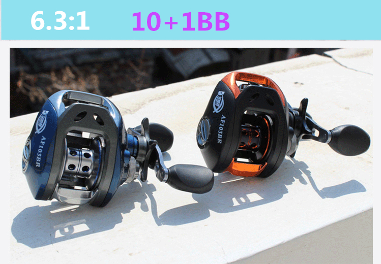 ФОТО Ultra smooth Right or Left  hand 6.3 : 1 Bait Casting 10+1BB Water drop wheel Fishing Reel Magnetic brake system    1606407