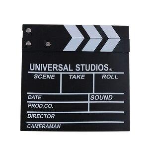 Image 5 - 20*20 cm מנהל וידאו אקריליק עץ יבש למחוק טלוויזיה סרט סרט קלאפר לוח צפחה עם צבע מקלות