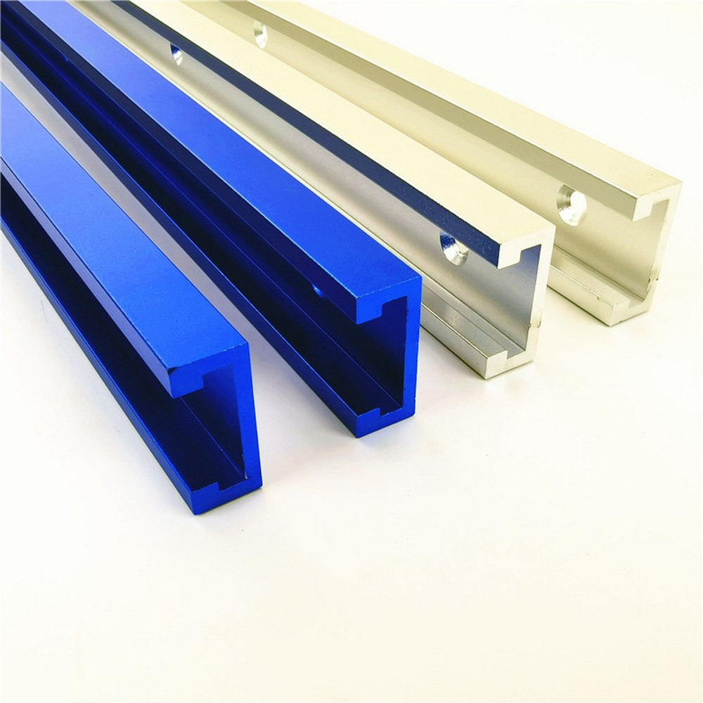 Chute Aluminium Alloy T-tracks Model 45 T Slot And Standard Miter Track Stop Woodworking DIY Tool For Router Table Length 800MM