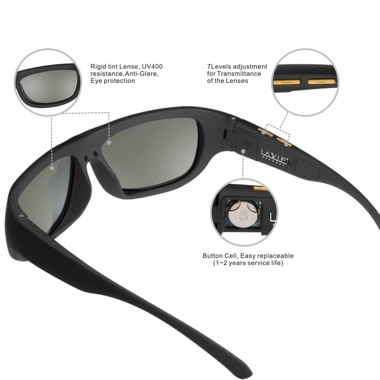 Мужские солнцезащитные очки с изменяемым электронным управлением оттенком  линзы умные солнцезащитные очки мужские поляризованные для вож a8358087714