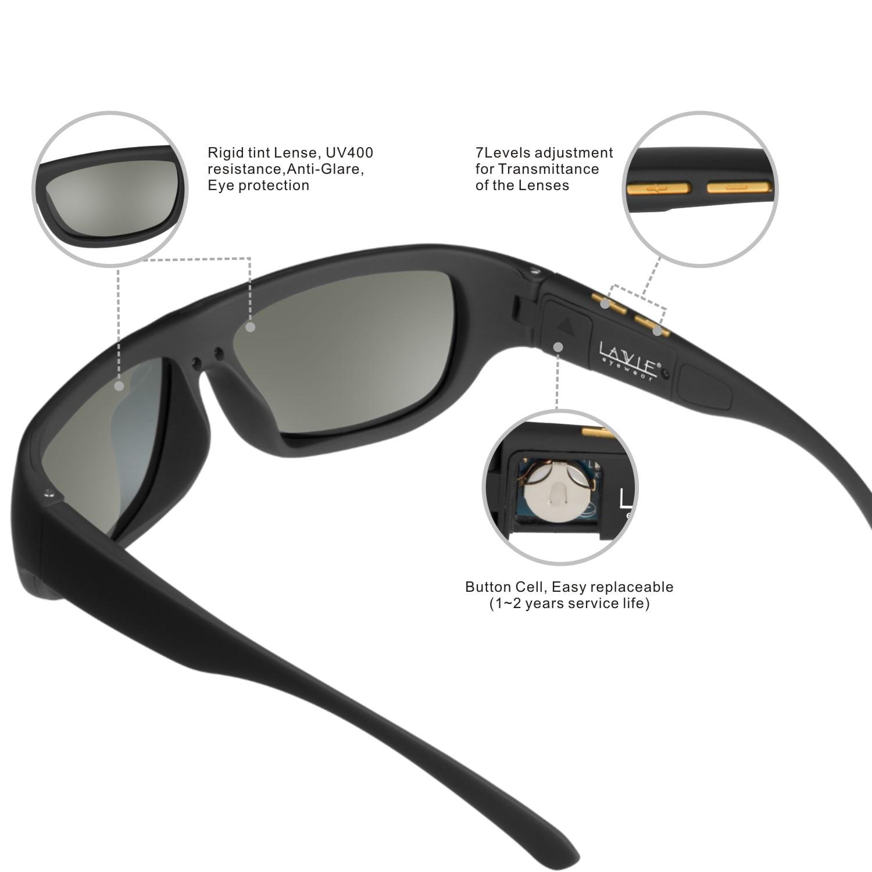 Мужские солнцезащитные очки с регулируемыми электронными затемненными стеклами