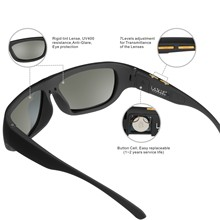 Men Sunglasses with Variable Electronic Tint Control Lens Smart Polarized for Driving Fishing Travelling 2018 New