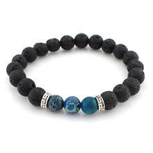 2016 New High Quality Lava Stone Jewelry Natural stone volcanic imperial men and women of prayer beads bracelet Yoga