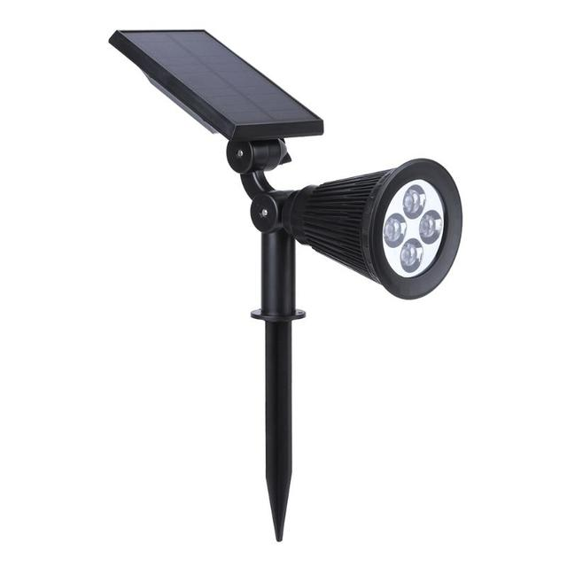 4 LEDs High Brightness Solar Spotlight Waterproof Outdoor Garden Landscape Yard Decor Wall Ground Mount Projector Light Lamp