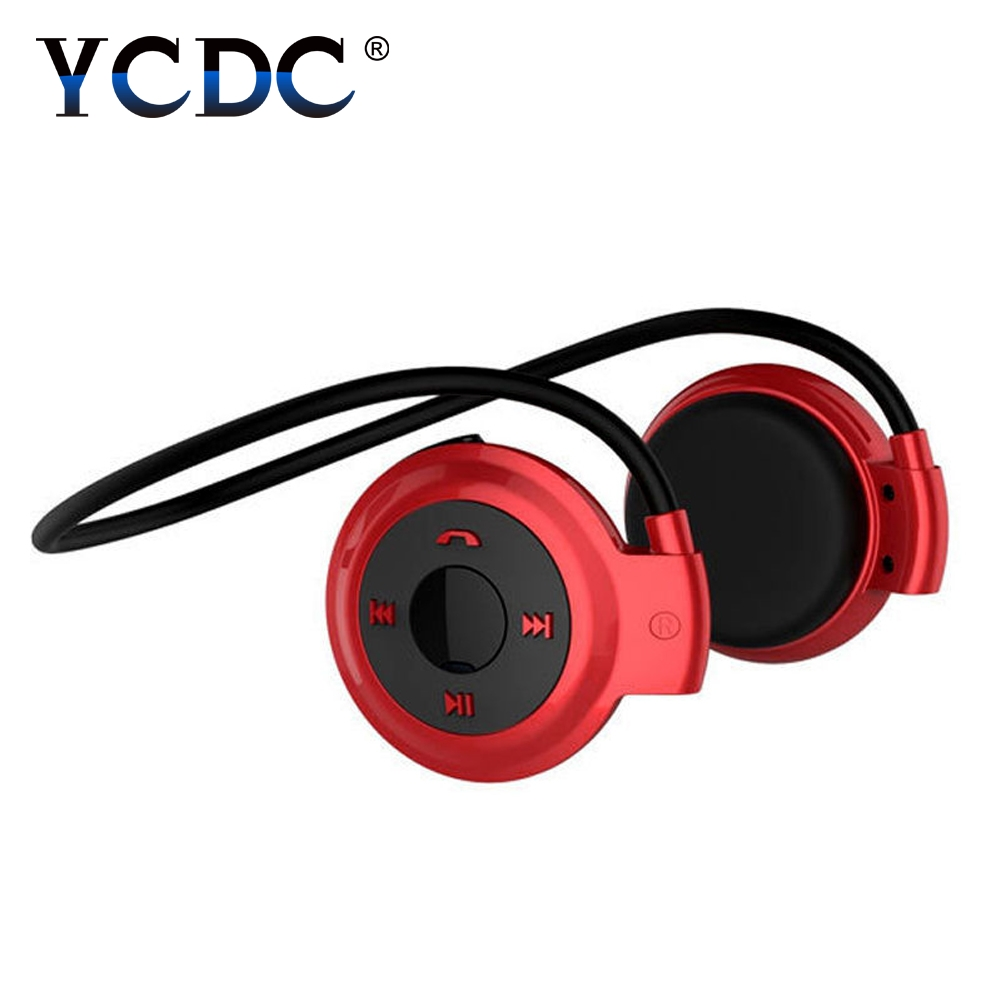 YCDC Sports Bluetooth Headphones Support 16G TF Card FM Radio Portable Neckband Wireless Earphones Headset Auriculars Black 7 hd 2din car stereo bluetooth mp5 player gps navigation support tf usb aux fm radio rearview camera fm radio usb tf aux