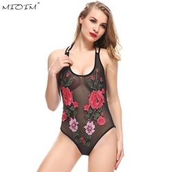Mioim sexy embroidery women bodysuits summer black lace flower halter straps rompers womens hight leg mesh.jpg 250x250