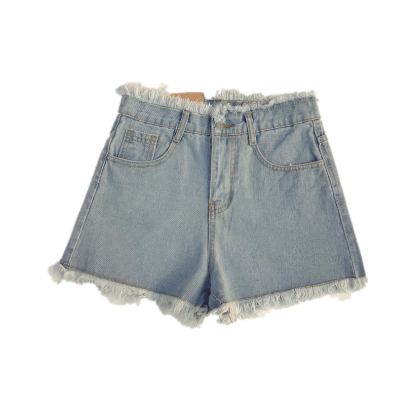 B2231 2020 summer new women loose High-waisted big size fashion denim shorts cheap wholesale Suitable for weight 45KG-85KG