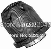 23094 super power air filter with carbon cover  76mm neck  carbon  filter  universal for car  intake  wholesales  and  retailer