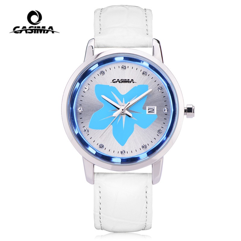 CASIMA Leather Women Watch montre femme 2018 Analog Quartz Watches Women Fashion reloj mujer Waterproof 50M Ladies Watch women quartz wrist watch vintage lace flower printed ladies watches casual leather band analog women s watch montre femme reloj