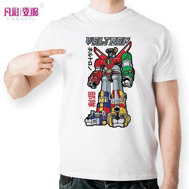 Voltron defender of the universe t shirt design personaggio dei