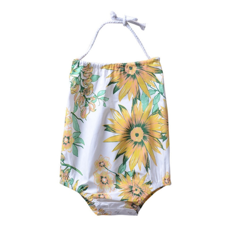 2018 Summer Hot Sale Baby Girls Cute Jumpsuit Infant Kids Sleeveless Printing Bodysuit New-arrival Fashion Clothing For 0-18M LQ