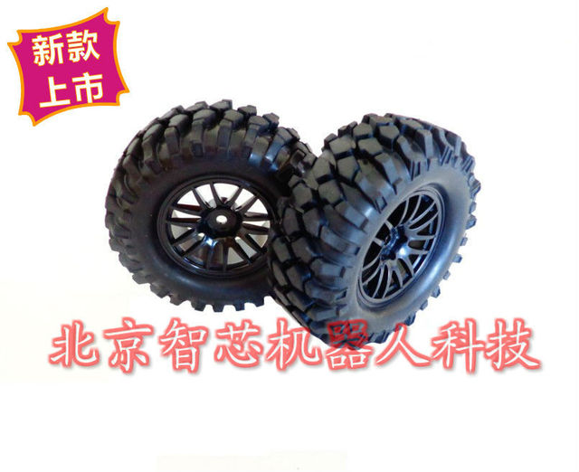 96mm 1:10 Black Smart Car Rubber Wheels Bigfoot Big Foot Car Wheel Tire Car Chassis Parts