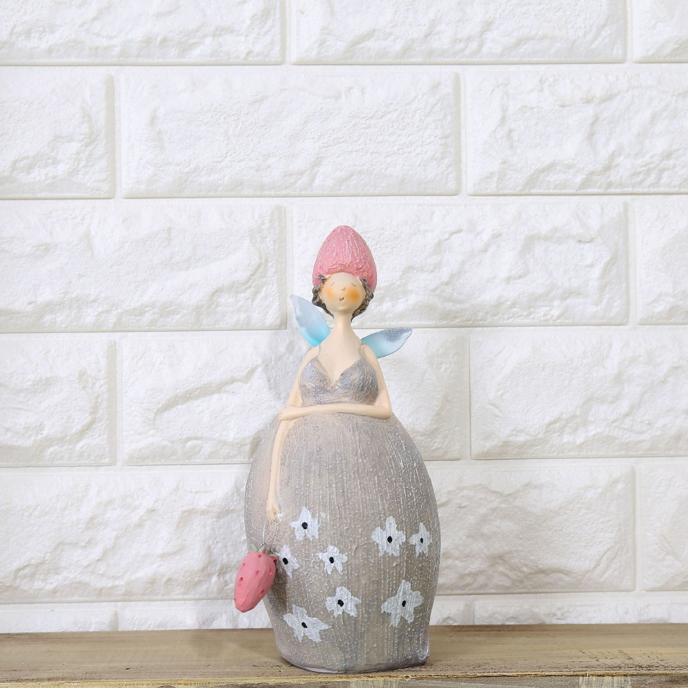 Creative Fat Angle Resin Craft Figurines Christmas Gifts for Women Angel Resin Dolls Desk Accessory Home Decor