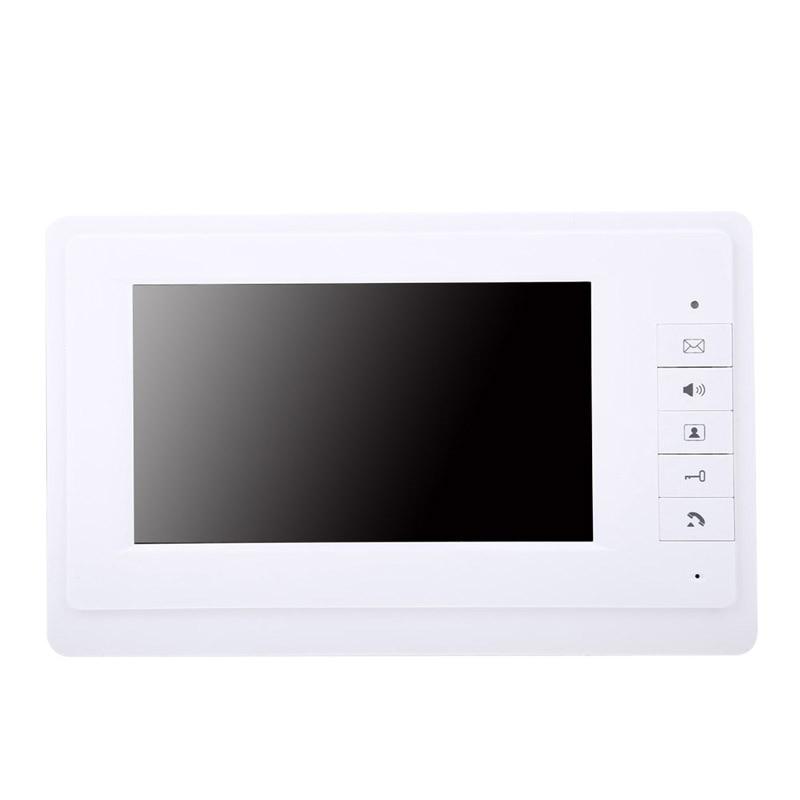 UK Plug High Quality 7 TFT LCD Screen IR CMOS Camera Video Door Phone Intercom Doorbell System Rain-proof Outdoor Unit