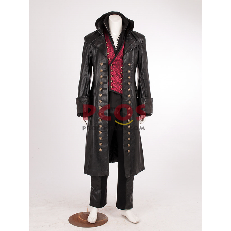Hot~ Once Upon a Time Killian Jones Captain Hook Cosplay Costume Pirate Hook Cosplay costume mp001994
