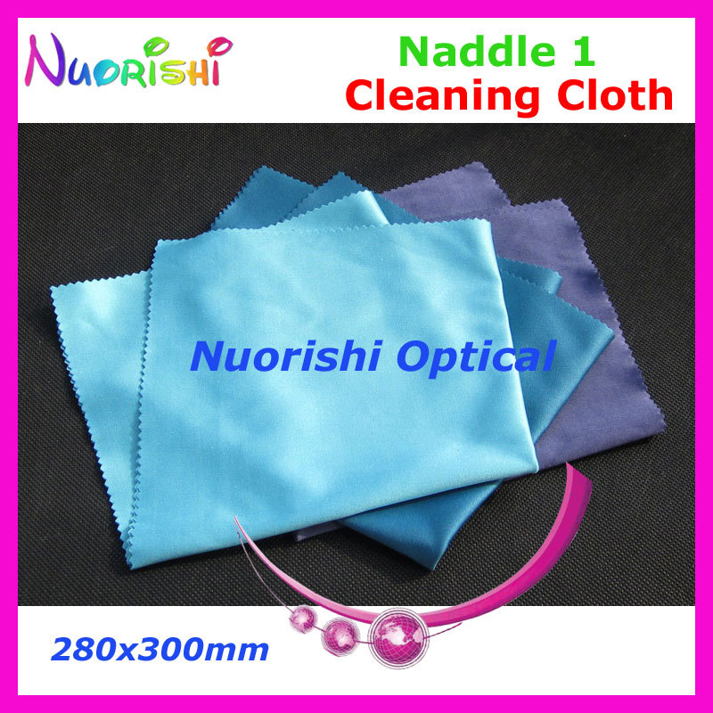 LC137 Big Size 400x400mm High Quality Naddle 1 Microfiber glasses cleaning cloth can be washed by water for repeated use