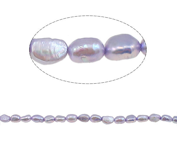 YYW Baroque Cultured Freshwater Pearl Beads,Bulk Jewelry, purple, 5-6mm, Hole:Approx 0.8mm, Sold Per 15.4 Inch Strand