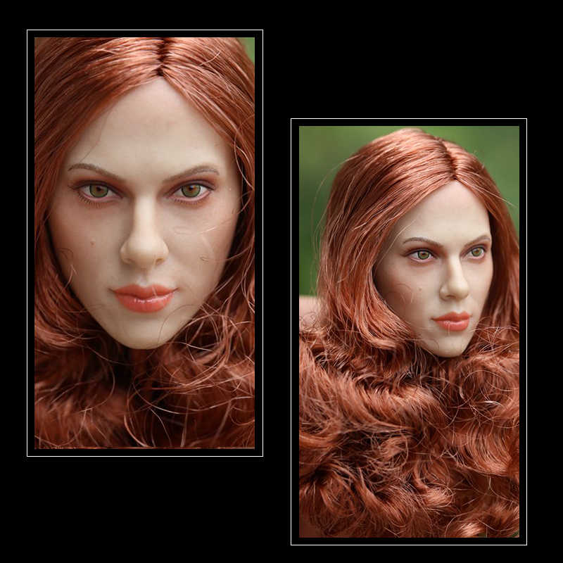 ... GACTOYS GC002 Black Widow Scarlett Johansson Long Red Brown Hair Women s  Head Sculpture Model 1  d6286f26dffc