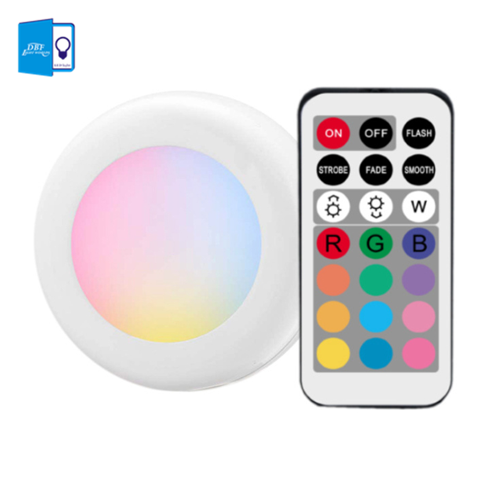 [DBF]Battery Operated Wireless LED Closet Lights,RGB Color