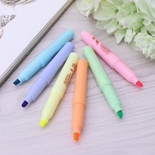 6 Colors/box Mini Cute Colorful Candy Color Highlighters Promotional Markers Gift Stationery Office School Supplies
