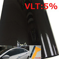 VLT 5% UV solar control window film car tint Window Solar Film 50*300CM by free shipping Black side window solar film