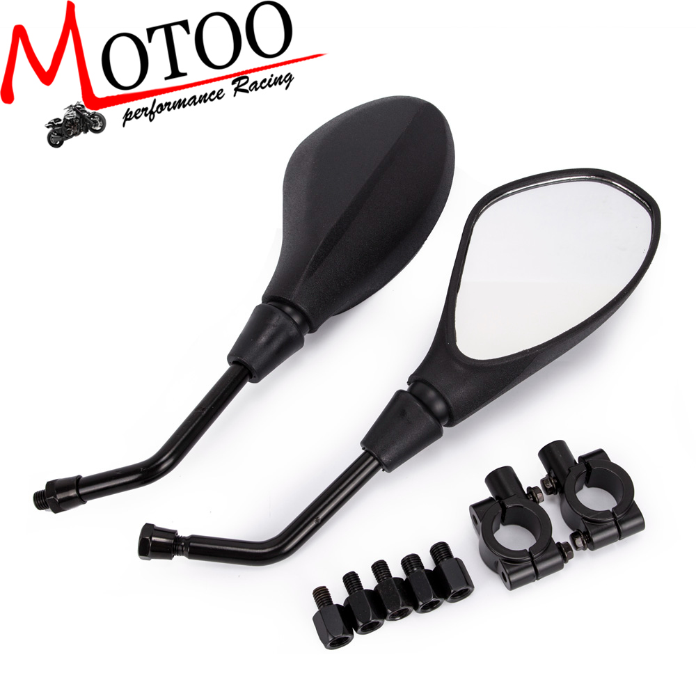 Motoo - Motorcycle Rearview Mirrors Mirror Scooter Electrombile Back Side Convex Mirror 8mm 10mm for Honda ATV Dirt Bike