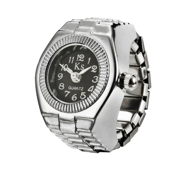 Relogio Feminino Saat Clock Dial Quartz Analog Watch Creative Steel Cool Elastic