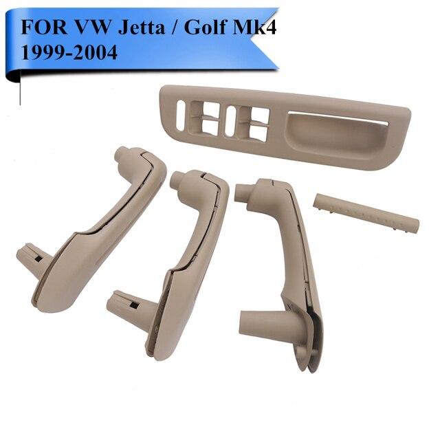 Beige Interior Door Grab Handle Cover Window Switch Bezel Trim Panel For VW Golf Jetta MK4 1999 - 2004 LHD Car Styling #P382