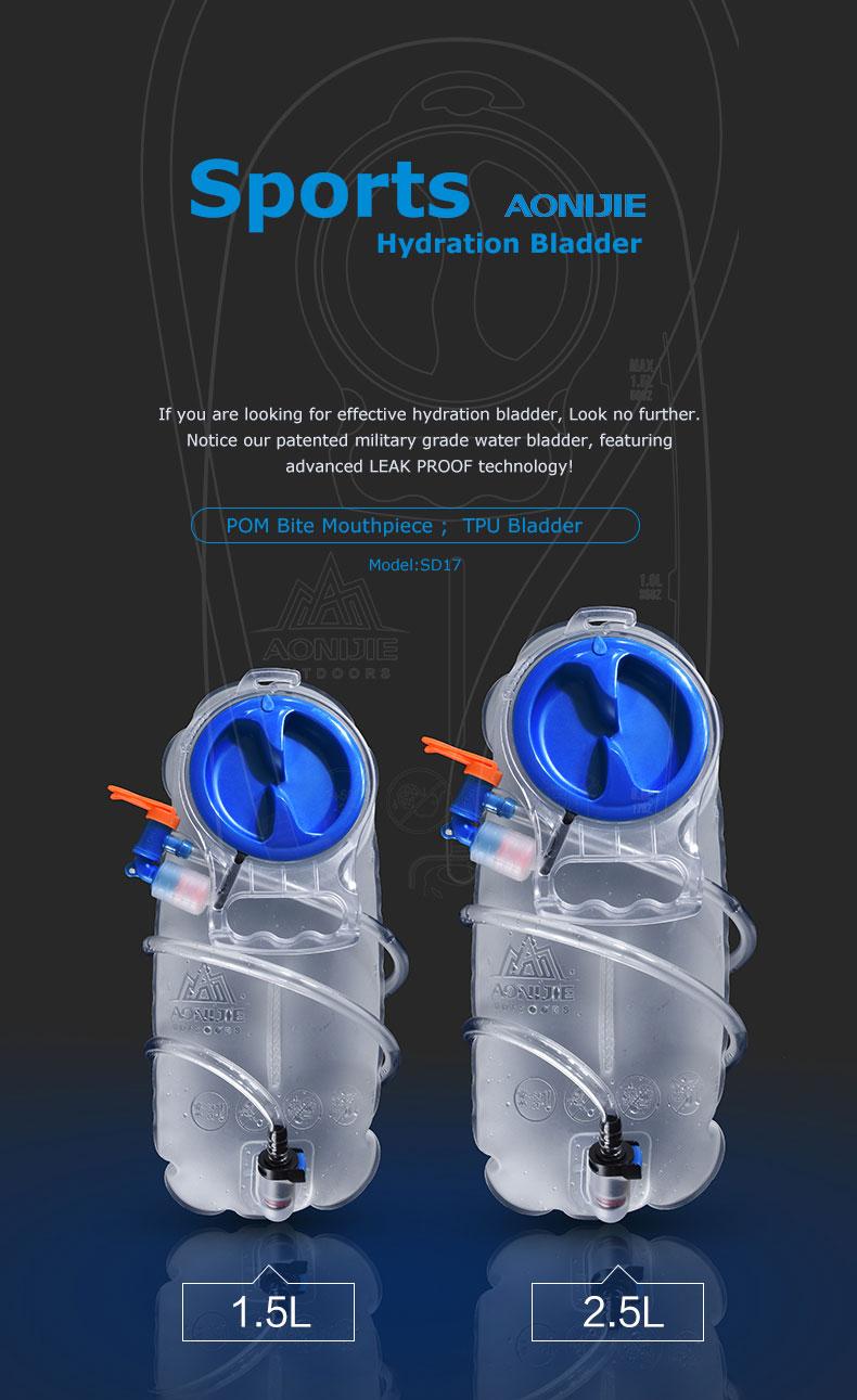 cb38351ede3 AONIJIE SD17 1.5L 2.5L Soft Reservoir Water Bladder Hydration Pack ...