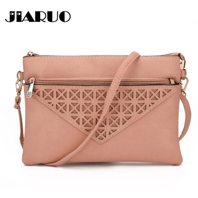 Small Leather slim light Women envelope Crossbody bag handbag purses Ladies  Messenger shoulder bag Hollow out e8f15f1826156
