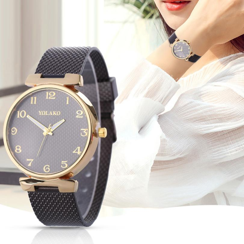 2018 Best Sell Watch Women Watches Fashion Casual Quartz Strap Solid Table WristWatch relogio feminino reloj mujer montre femme fashion watches relogio feminino hot montre women s casual quartz leather band new strap watch analog wrist watch wristwatch