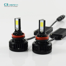 H11 Car  LED Headlight 72W  LED H8 H9 6600LM for H11 auto headlamp DRL DAYTIME Car DRIVING FOG HEADLIGHT