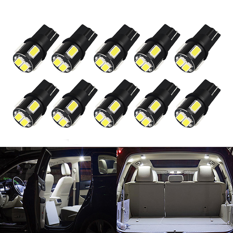 Signal Lamp Knowledgeable Oxilam 10pcs T10 W5w Led Bulb 194 168 Car Interior Dome Reading Lamp Clearance License Plate Light 6000k White 12v Auto Led Bulb To Clear Out Annoyance And Quench Thirst Automobiles & Motorcycles