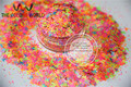 Mezclar Colores de Neón Mariposa Resistente A los Solventes y Hexagonal Glitter Forma de clavo del polaco del arte y la decoración de DIY 1 pack = 50g