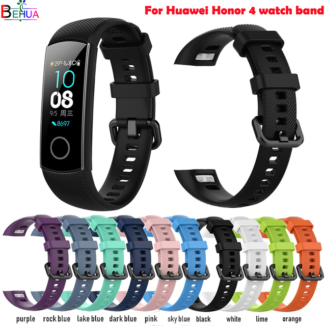 Sport silikon uhr band Für Huawei Honor 4 smart watch armband Ersatz Original weiche fashion strap Armband Fitness band