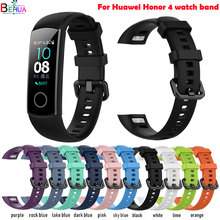 sport silicone watch band For Huawei Honor 4/Honor 5 smart wristband Replacement Original soft fashion strap Bracelet