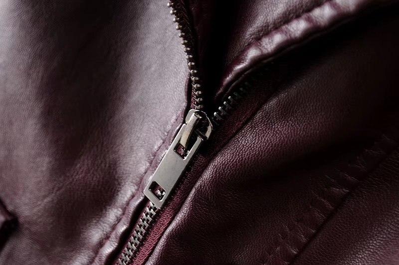 De Longue Printemps Nouveau xl 2018 Coupe Pu vent Et Solide Mode Red Veste En Revers pink Cuir Femmes S Black wine Couleur Automne Cravate 6dqvSwq