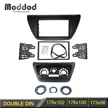 Centro de Control de CA Panel Fascia + Doble Din Radio para 2006 Mitsubishi Lancer IX Aftermarkets Kit Stereo Dash DVD Marco