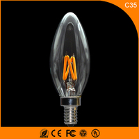 50PCS 2W E12 LED Bulbs ,C35 LED Filament Candle Bulbs 360 Degree Light Lamp Vintage pendant lamps AC110V
