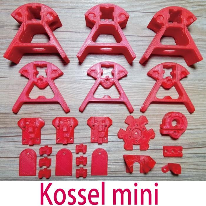 Kossel Mini Reprap Delta robot 3D Printer Printed Plastic Part Premium KIT ABS Part for 1515/2020 Aluminum profile Free Shipping 1set 6pcs kossel delta aluminum block 2020 aluminum alloy corners profile black silver golden 3d printer parts